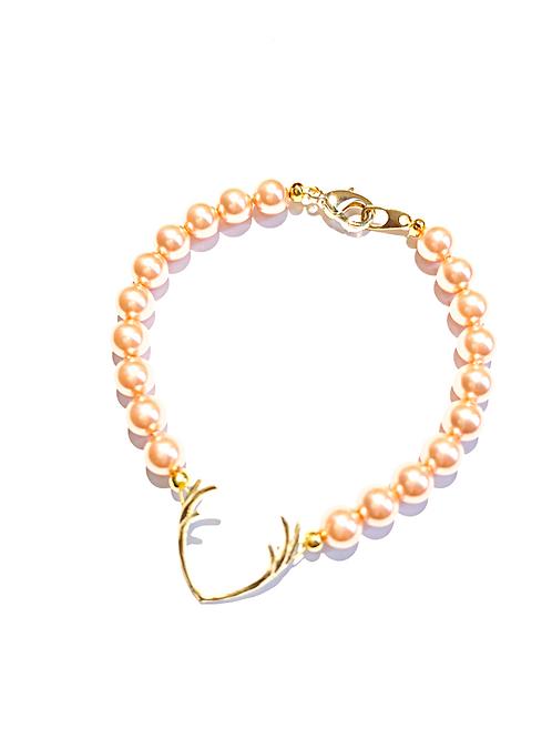 Perlenarmband HIRSCHFÄNGER rose/peach/gold