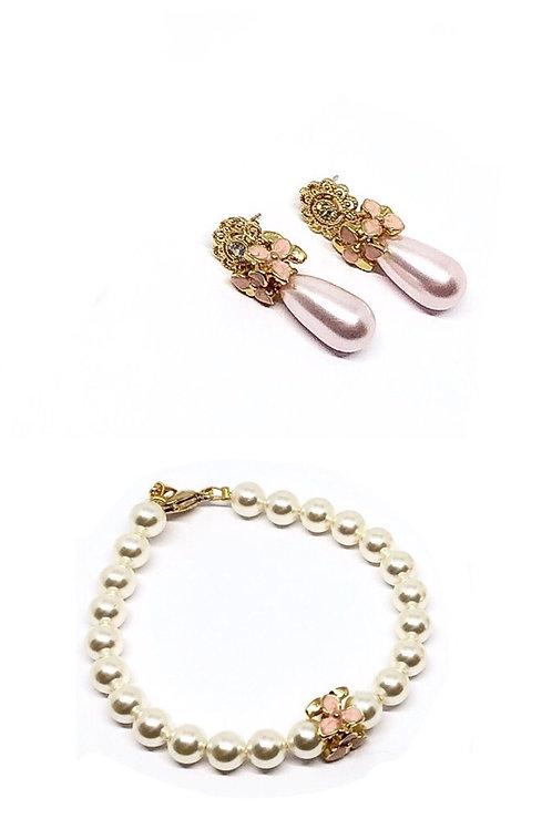 Schmuckset Armband *Blümchen* und Ohrringe *Blütenzauber*