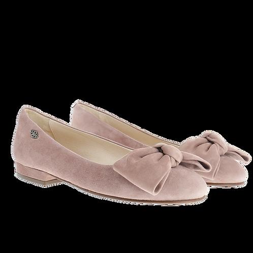 Ballerinas mit Lederschleife rose