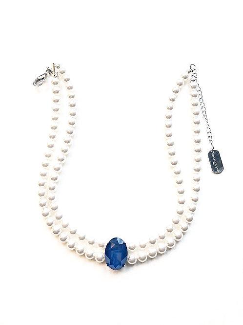 Kropfkette *Trixie* white|silber|blue