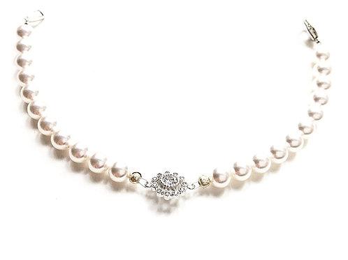Perlenarmband *Mitzi* white/silber