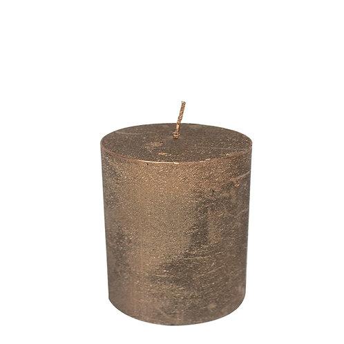 Kerze kupfer  7x10 cm