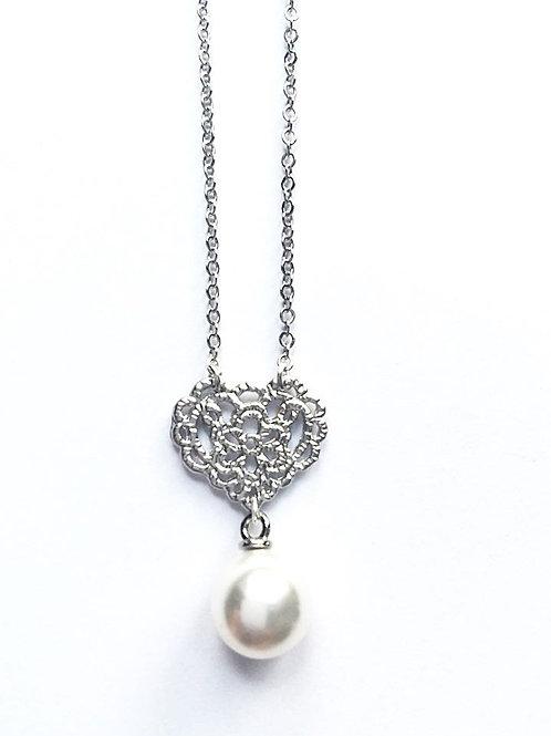 Kette *Perle für's Dirndl*, silber