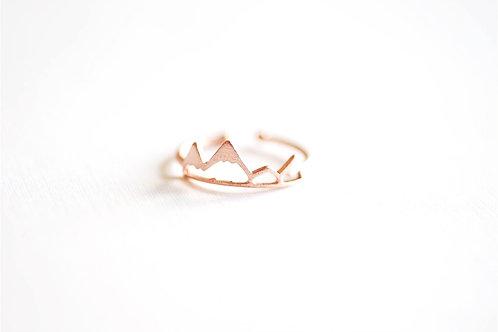 Ring *Bergschimmer* 925er Sterling Silber mattrosevergoldet