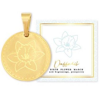 Birthflower Kette MÄRZ gold