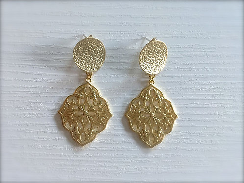 Ohrringe *Dolce Vita* gold Ornament Ohrschmuck
