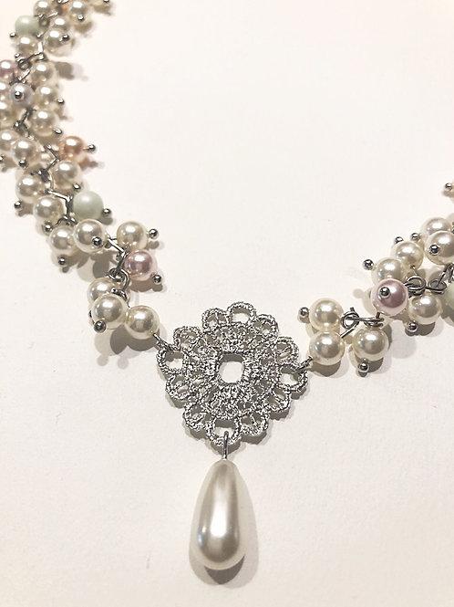 Perlenkette LACE pastell