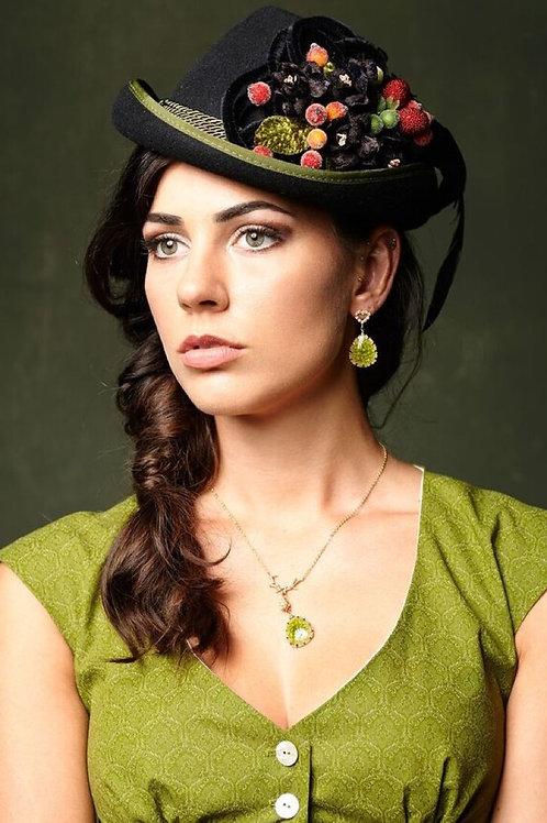 Ohrringe Herzstoandl vergoldet grün