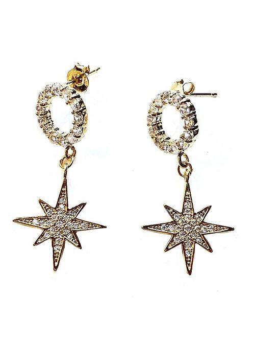 Ohrringe *Sterne*, vergoldet