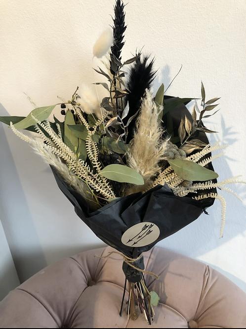Trockenblumenstrauss natur/schwarz