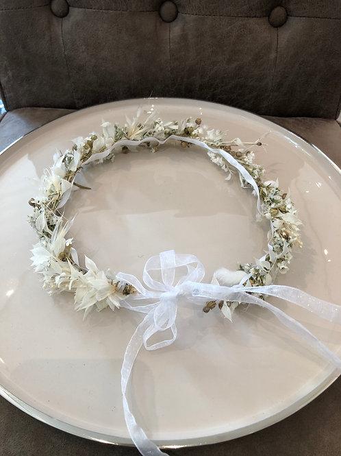 Blumenkranz Haarschmuck white