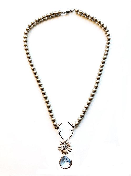 Perlenkette *Hirschfänger Daisy*platin/silber
