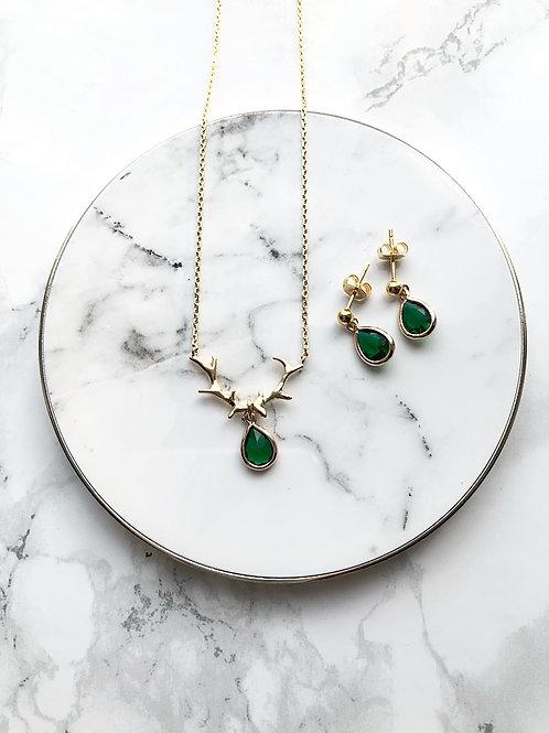 Schmuckset GEWEIHKLUNKER emeraldgreen/gold