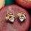 Thumbnail: Ohrringe *Herzschleiferl* |vergoldet