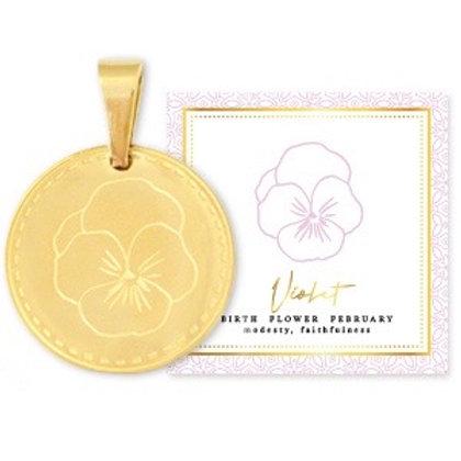 Birthflower Kette FEBRUAR gold