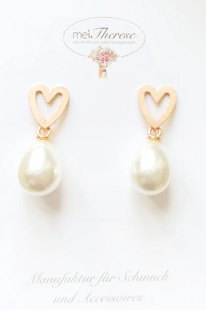 Ohrringe *Herzklopfen* rosevergoldet