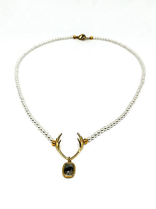 Perlenkette *Hirschfänger* mini mit Labradorit