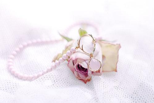 Perlenkette HIRSCHFÄNGER rose/gold