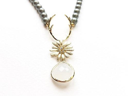Perlenkette HIRSCHFÄNGER gold/grün