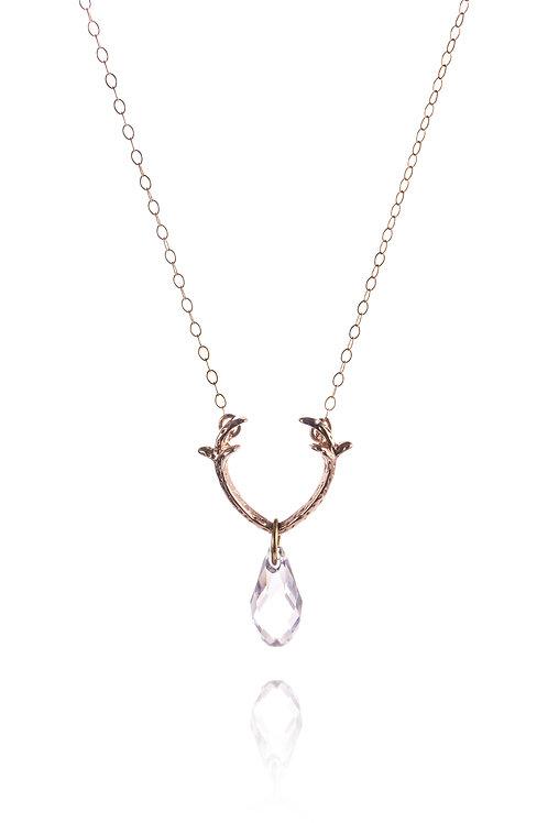 Kette *Hirschklunker 2.0* Sterling Silber, rosevergoldet