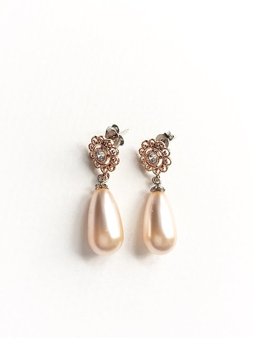 Ohrringe *Honigtau* bicolor/peach