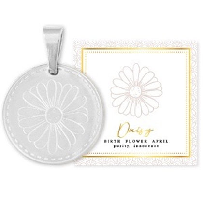 Birthflower Kette APRIL silber