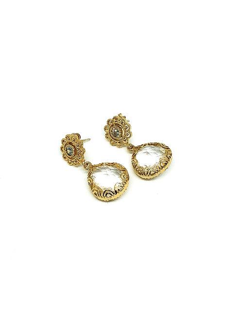 Ohrringe *Glückstropfen, vergoldet