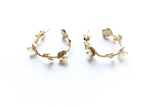 Ohrringe *Rosencreole* vergoldet