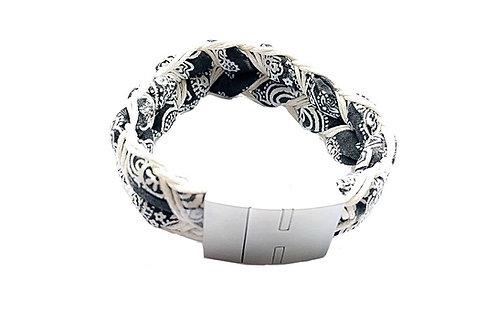 Armband FREDL schwarz/weiß