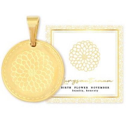 Birthflower Kette NOVEMBER gold