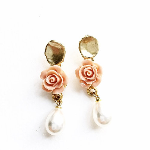 Ohrringe *Roses and Pearls*