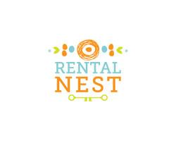 rental nest real estate logo