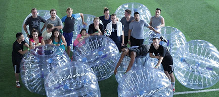 Be the office hero, book your Bubble Ball Soccer event today