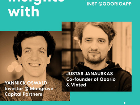 Going live with Qoorio and Vinted founder Justas Janauskas