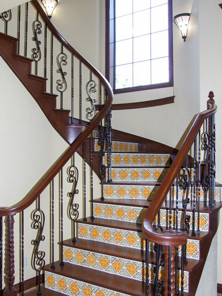 Texas Hill Country custom home stair Kol