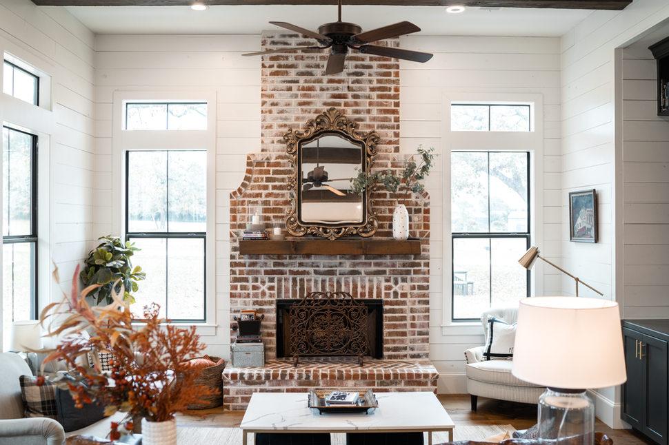 Shiplap_Farm_House_Brick_Fireplace_Black