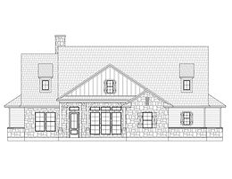 Texas Hill Country Farmhouse Plan Kolby