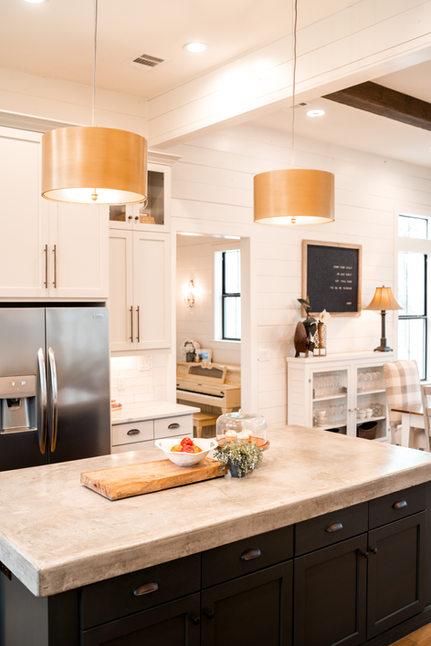 Kitchen_Custom_Home_Gold_Drum_Pendants_D