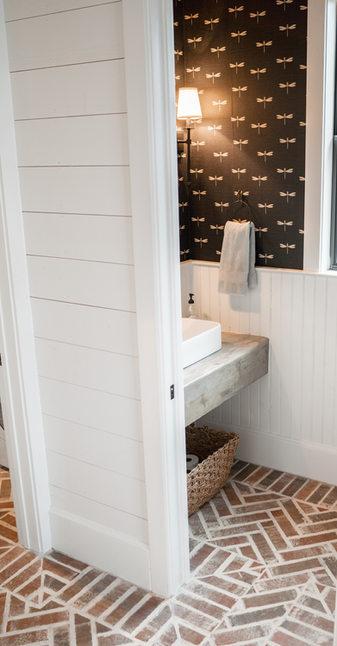 Bath-Room-Farm-House-Brick-Herringbone-F