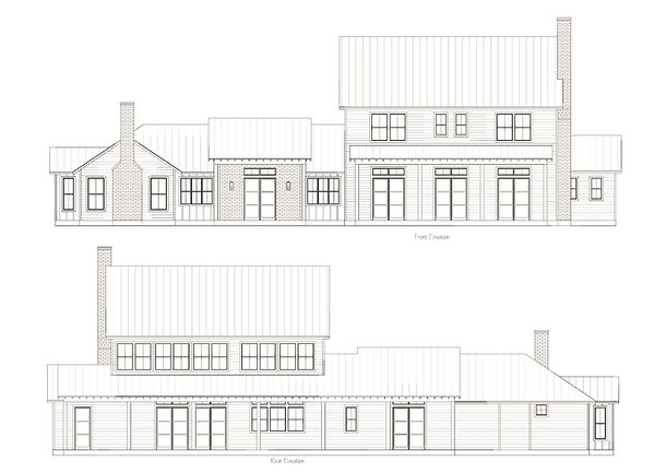 Elevation-Farmhouse-Dogtrot-Custom-Home-