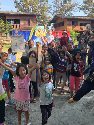 Game time with Singapore Team at Children's Camp