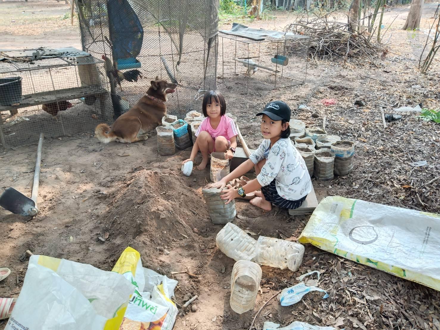 Digging the soil