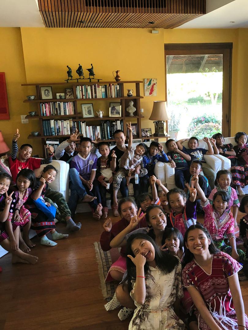 Movie time at Khun Sarah's