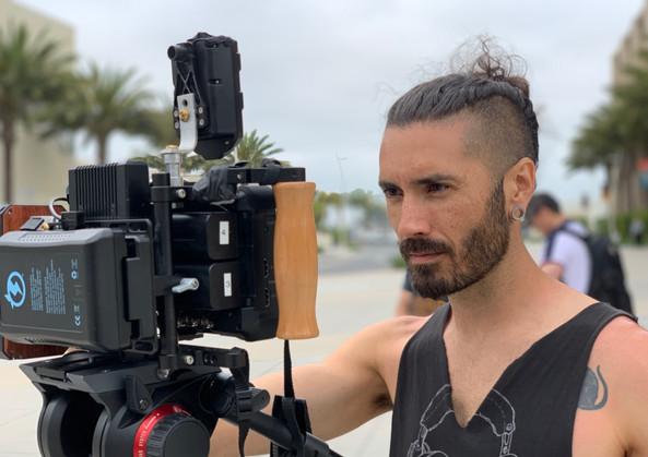 Chase Baker at video village.