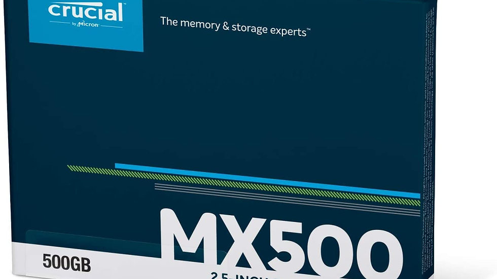 New Crucial MX500 500GB 3D NAND SATA 2.5 Inch Internal SSD, up to 560MB/s