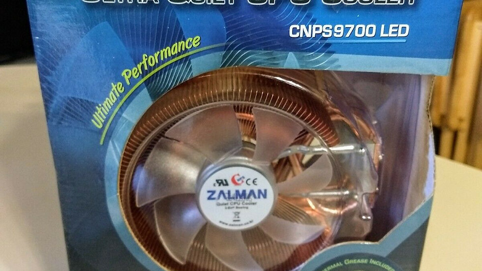 Zalman CNPS9700 LED Ultra Quiet CPU Cooler Ultimate Performance NIB NEW