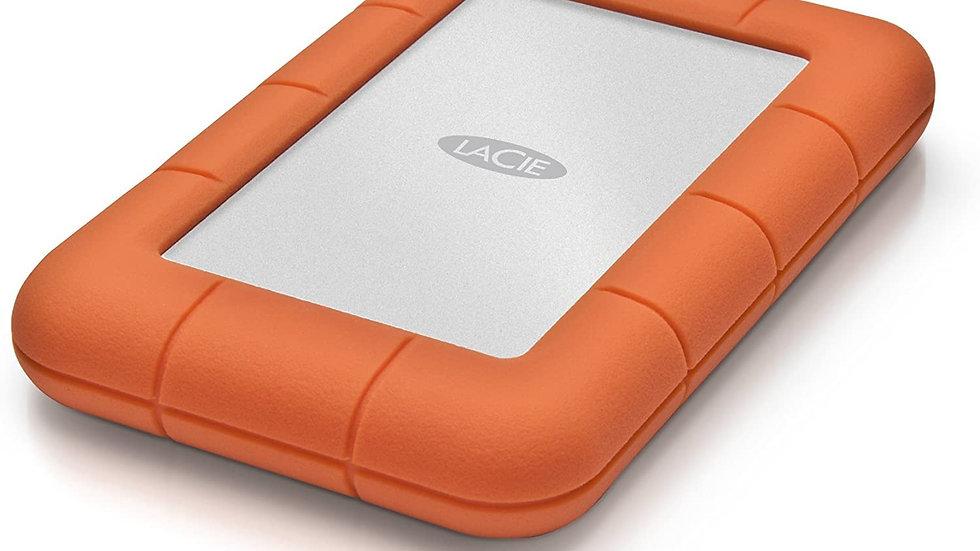 LaCie LAC9000298 Rugged Mini 2TB External Hard Drive Portable HDD - USB 3.0 USB