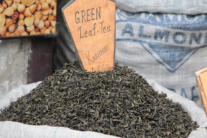 Les feuilles de thé vert