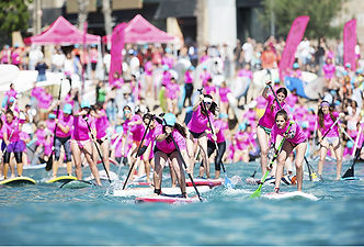 Race London SUP stand up paddleboarding event racing, yoga, family fun, APP event