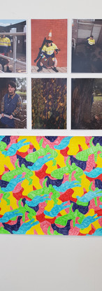 Artworks by Chris de Sira and Laura Sikes